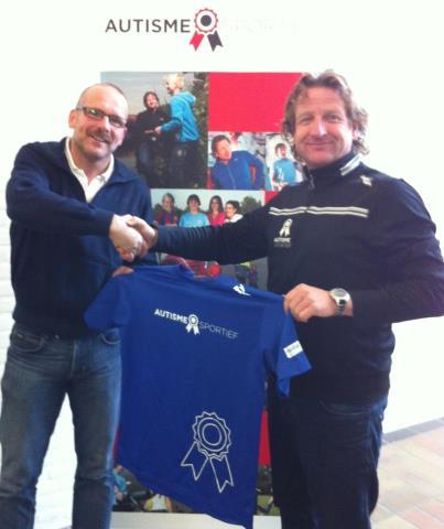 Gerrit samen met Wilco Voulon van Stichting Autisme Sportief
